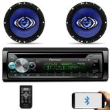 Kit-CD-Player-Pioneer-DEH-X500BR-1-Din-Bluetooth-Android-iOS---Alto-Falante-Hurricane-6-130W-RMS-connectparts---1-