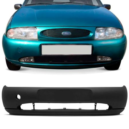 Para-choque-Dianteiro-Fiesta-Hatch-1996-a-1999-Courier-1997-a-1999-Preto-Texturizado-Furo-Milha-connectparts