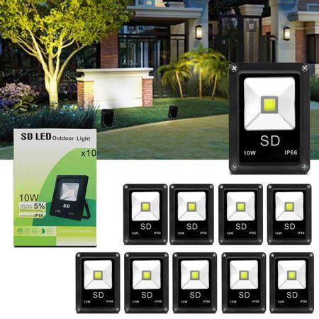 Kit-10-Refletor-Led-Holofote-Slim-10W-Bivolt-IP66-6000K-Branco-Frio-Resistente-Agua-Fachada-Jardim-connectparts---1-