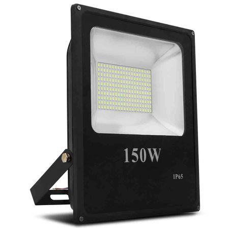 Kit-10-Refletor-Led-Holofote-Slim-150W-Bivolt-IP65-6000K-Branco-Frio-Resistente-Agua-Fachada-Jardim-connectparts---2-