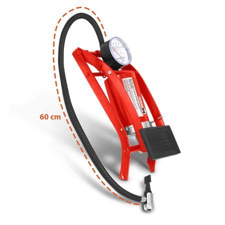Bomba-de-Ar-para-Encher-Pneus-NOVE54-Vermelho-com-Pedal-Carro-Moto-Bicicleta-CONNECTPARTS---2-