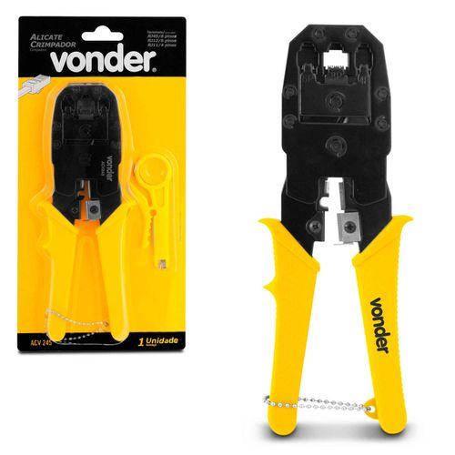 Alicate-Crimpador-Vonder-ACV245-Amarelo-e-Preto-em-Aco-Carbono-connectparts---1-