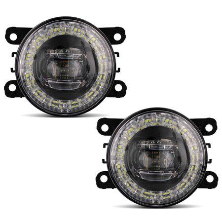 Par-Farol-de-Milha-3-LEDs-DRL-Anel-Megane-2006-2007-2008-2009-Auxiliar-Neblina-connectparts---2-