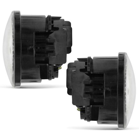 Par-Farol-de-Milha-3-LEDs-DRL-Anel-Megane-2006-2007-2008-2009-Auxiliar-Neblina-connectparts---3-