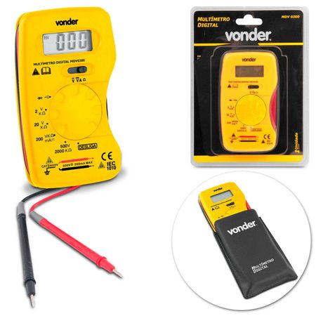 Multimetro-Digital-Cabo-de-Teste-Multiteste-Vonder-MDV0300-Preto-e-Amarelo-connectparts---1-