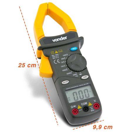 Alicate-Amperimetro-Digital-Vonder-AAV4200-600V-Medicao-Corrente-Tensao-Resistencia-connectparts---3-