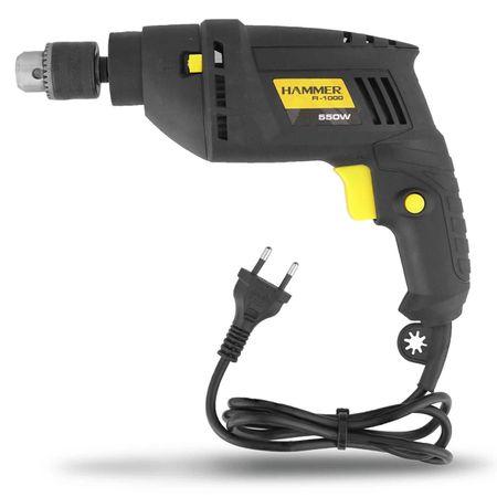 Furadeira-de-Impacto-Mandril-Hammer-38-Polegadas-220V-2.800-RPM-550W-Preta-e-Amarelo-FI-1000-connectparts---2-