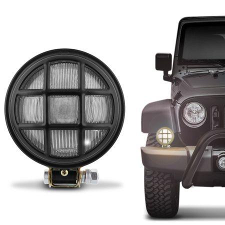Farol-de-Milha-Redondo-Aco-Preto-com-Grade-Jeep-Caminhao-Off-Road-Universal-158mm-connectparts---1-