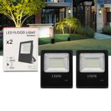 Kit-2-Refletor-Led-Holofote-Slim-150W-Bivolt-IP65-6000K-Branco-Frio-Resistente-Agua-Fachada-Jardim-connectparts---1-
