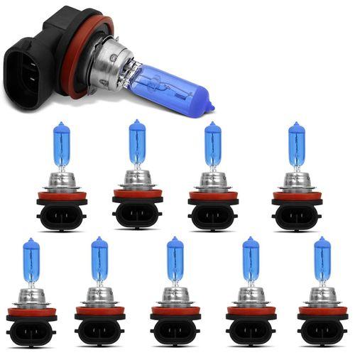 Kit-10-Lampadas-Super-Branca-H9-8500K-55W-12V-Efeito-Xenon-connectparts---1-