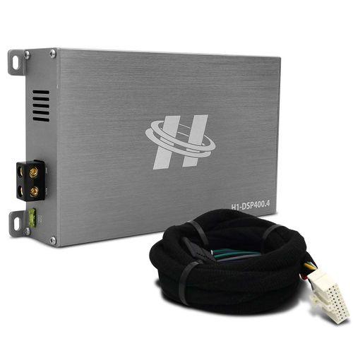 Kit-Modulo-Amplificador-Hurricane-H1-DSP400.4---Chicote-Mitsubishi-Original-Plug-And-Play-connectparts---1-