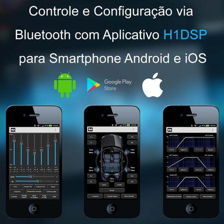 Kit-Modulo-Amplificador-Hurricane-H1-DSP400.4---Chicote-Mitsubishi-Original-Plug-And-Play-connectparts---4-