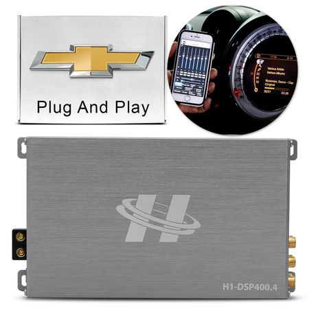 Kit-Modulo-Amplificador-Hurricane-H1-DSP400.4---Chicote-Gm-Original-Plug-And-Play-connectparts---2-