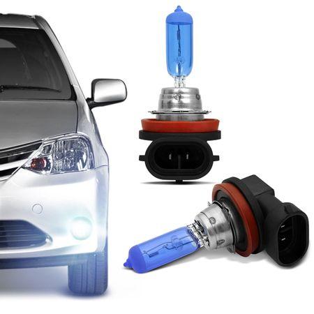 Kit-10-Lampadas-Super-Branca-H8-8500K-35W-12V-Efeito-Xenon-connectparts---2-