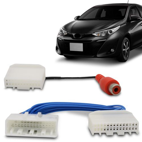 Desbloqueio-de-Tela-Toyota-Yaris-2018-A-2019-com-Entrada-Camera-de-Re-Plug-And-Play-connectparts