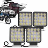 Kit-4-Farois-Milha-Quadrado-16-Leds-48w-1224V-Carro-Troller-Jeep-Off-road-Caminhao-Auxiliar-Neblina-connectparts---1-