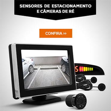 Sensor de estacionamento e Câmeras de Ré