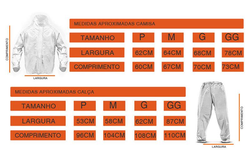 Capa de Chuva Preto Tamanho P M G GG Impermeável - Connect Parts dc3e6542d56bf